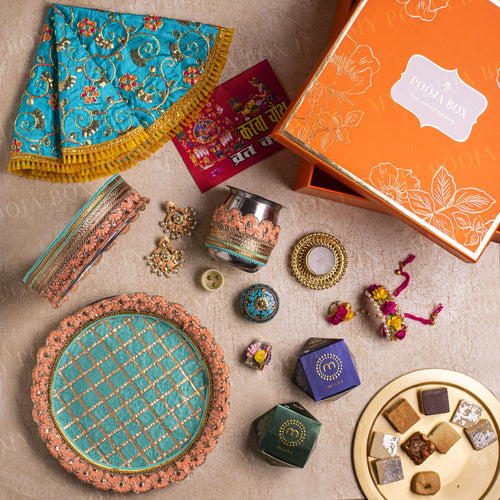 Lush Blue Gift Box for Karwa Chauth