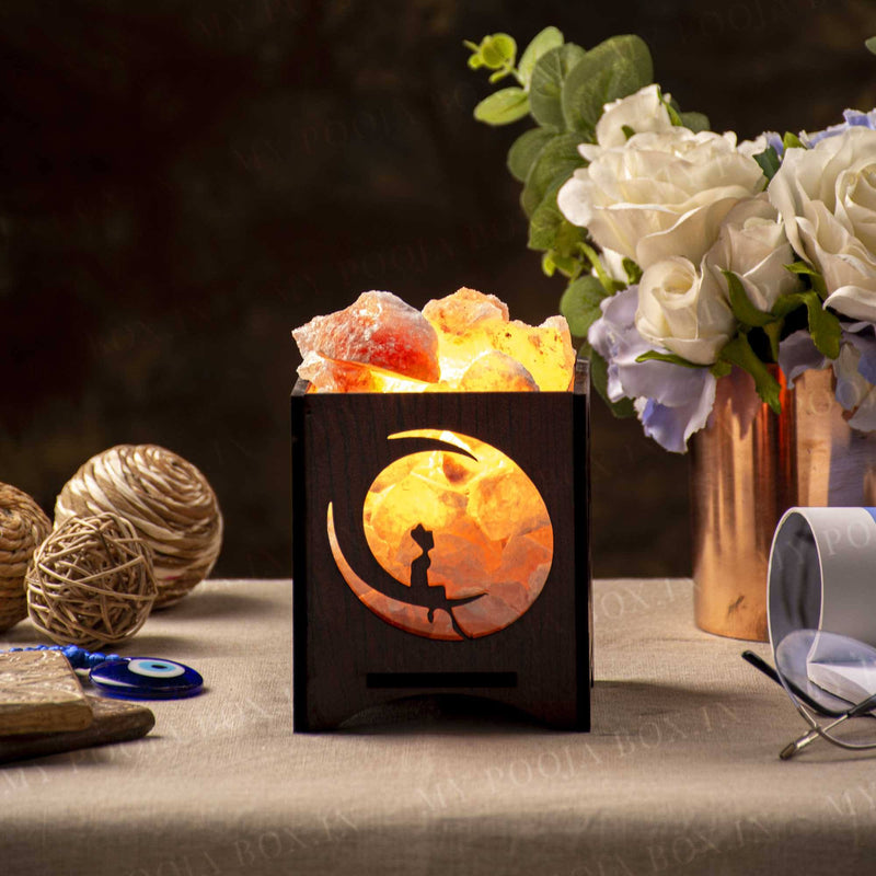 Sun & Moon Himalayan Salt Lamp Basket