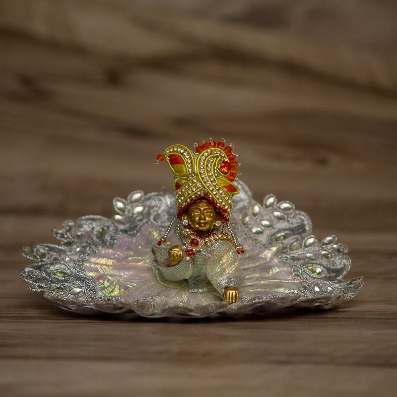 Silver Laddu Gopal Dress