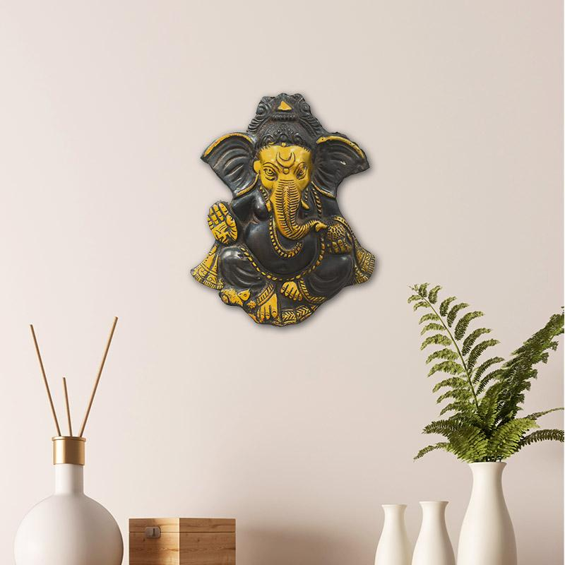 Antique Brass Ganesha Wall Hanging