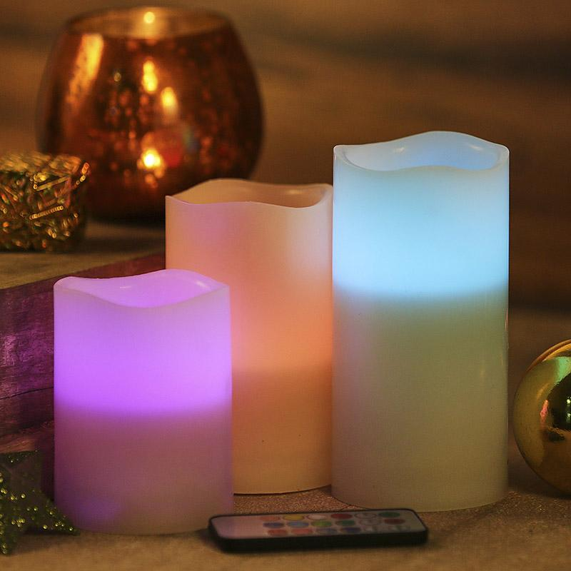 Dazzling Color Changing LED Candles with Remote