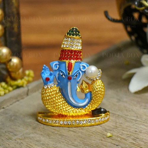 Artistic Multicolour Dashboard Ganesha Idol