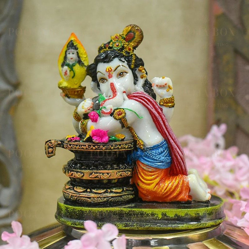 Beautiful Ganesh Lingam Idol/murti Idols