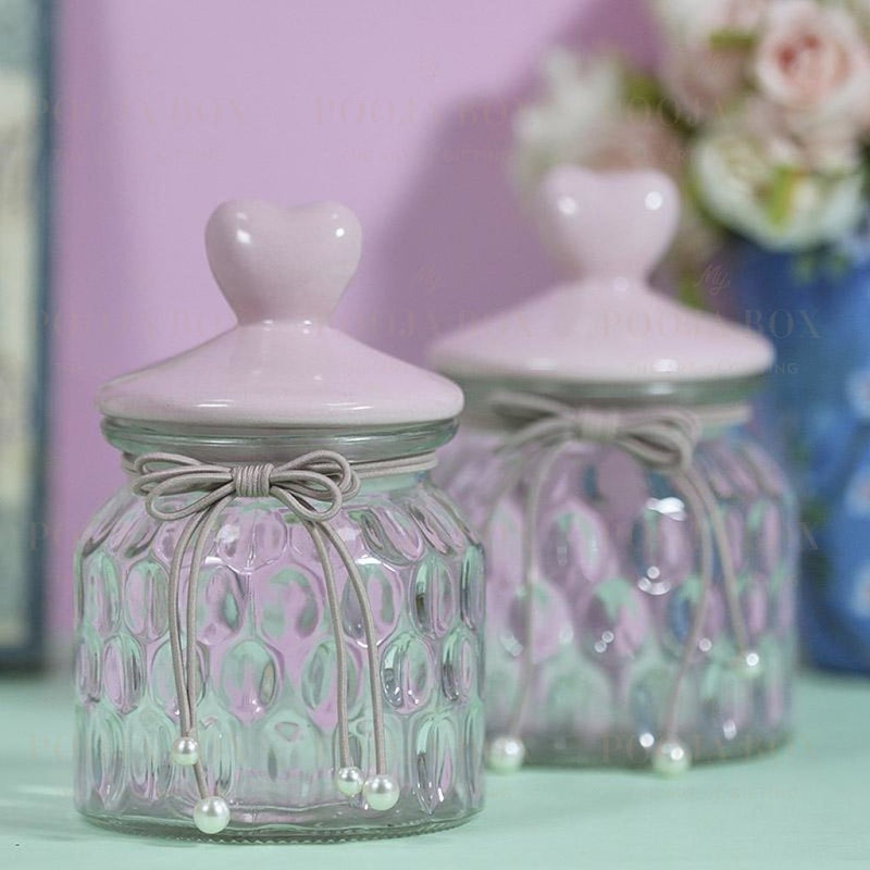 Gorgeous Hearty Glass Jar Set Of 2 Crockery