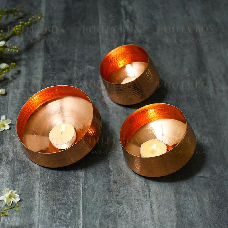 Maysa Whirling T Lights (Set Of 3) Candle Holder