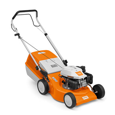 STIHL RM 248 Manoeuvrable petrol lawn mower with 46 cm cutting width.