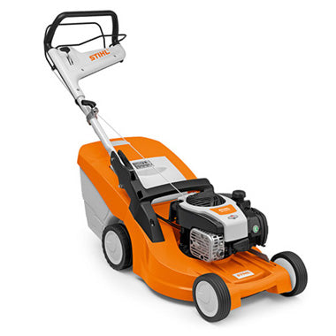 STIHL RM 448 VC Petrol lawn mower with Vario drive and mono-comfort handlebar