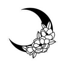 Load image into Gallery viewer, Flower Crescent Moon Decal