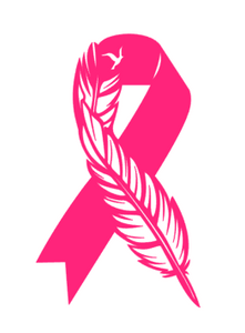 Feather Ribbon Decal