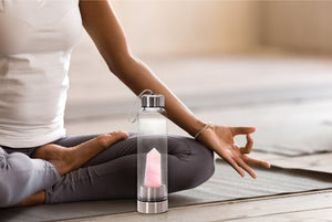 Personalised Rose Quartz Crystal Energy Water Bottle