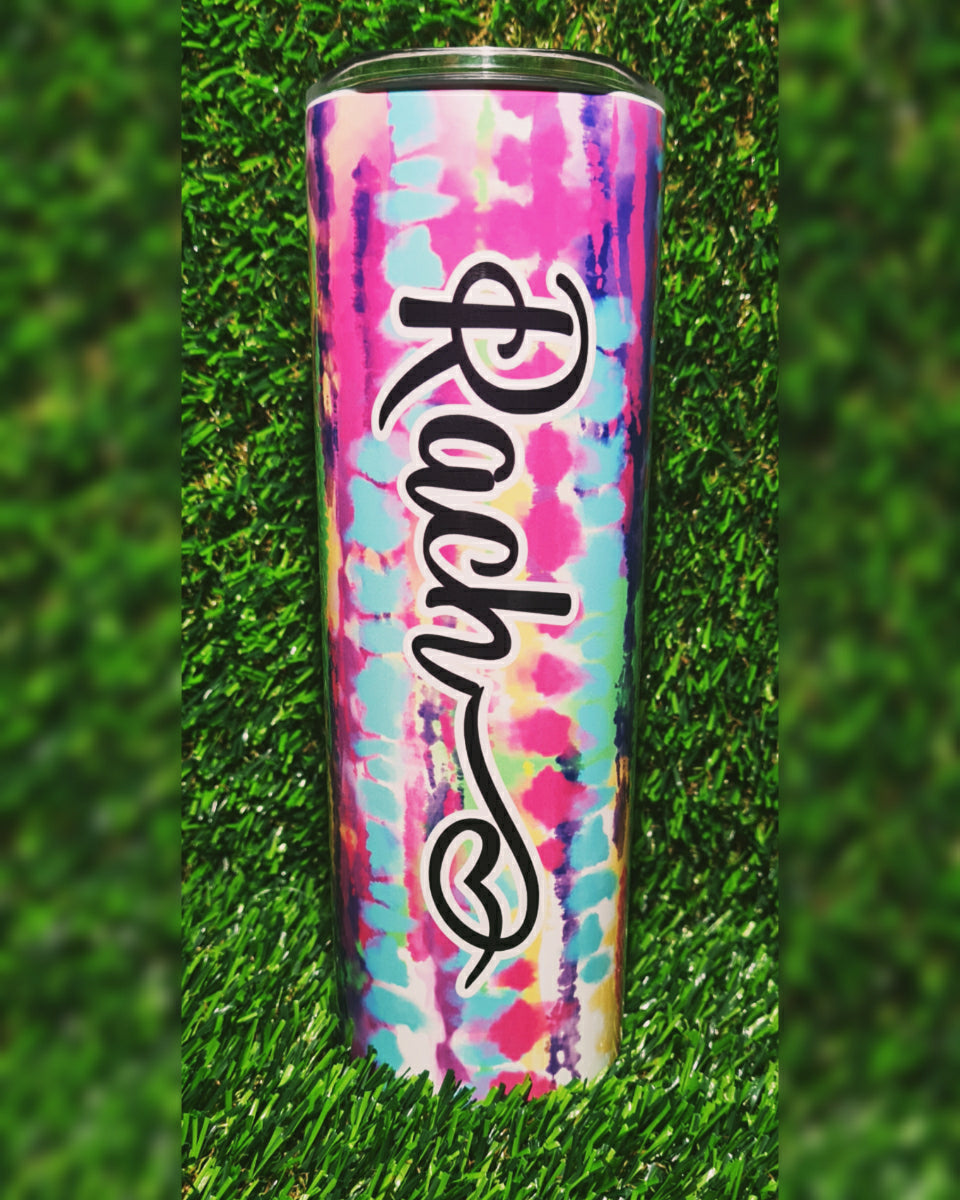 Personalised Tie Dye Insulated Tumbler