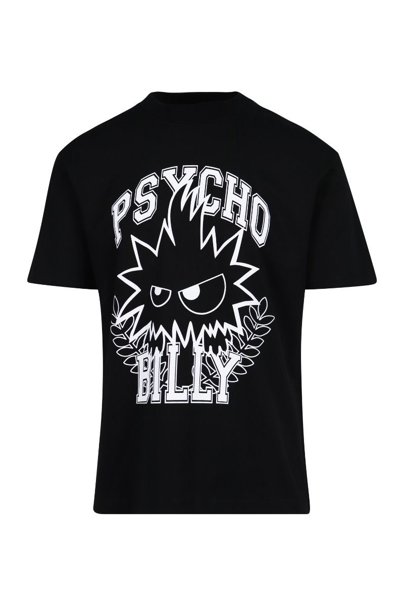 Psycho Billy Monster T-shirt Men Fashion MCQ Cotton Short-sleeve Casual Tee