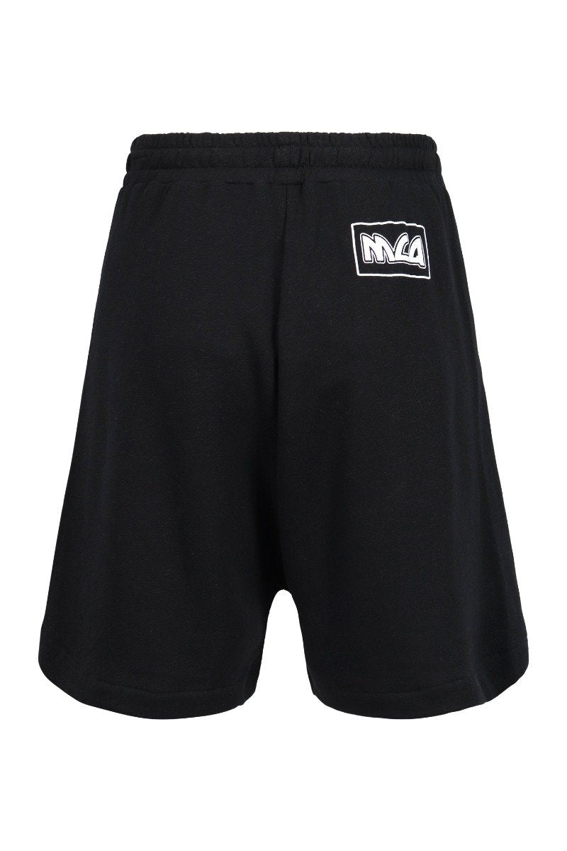Metal Mcq Logo Sweatshort Men Fashion Cotton Shorts Casual Sport Elastic