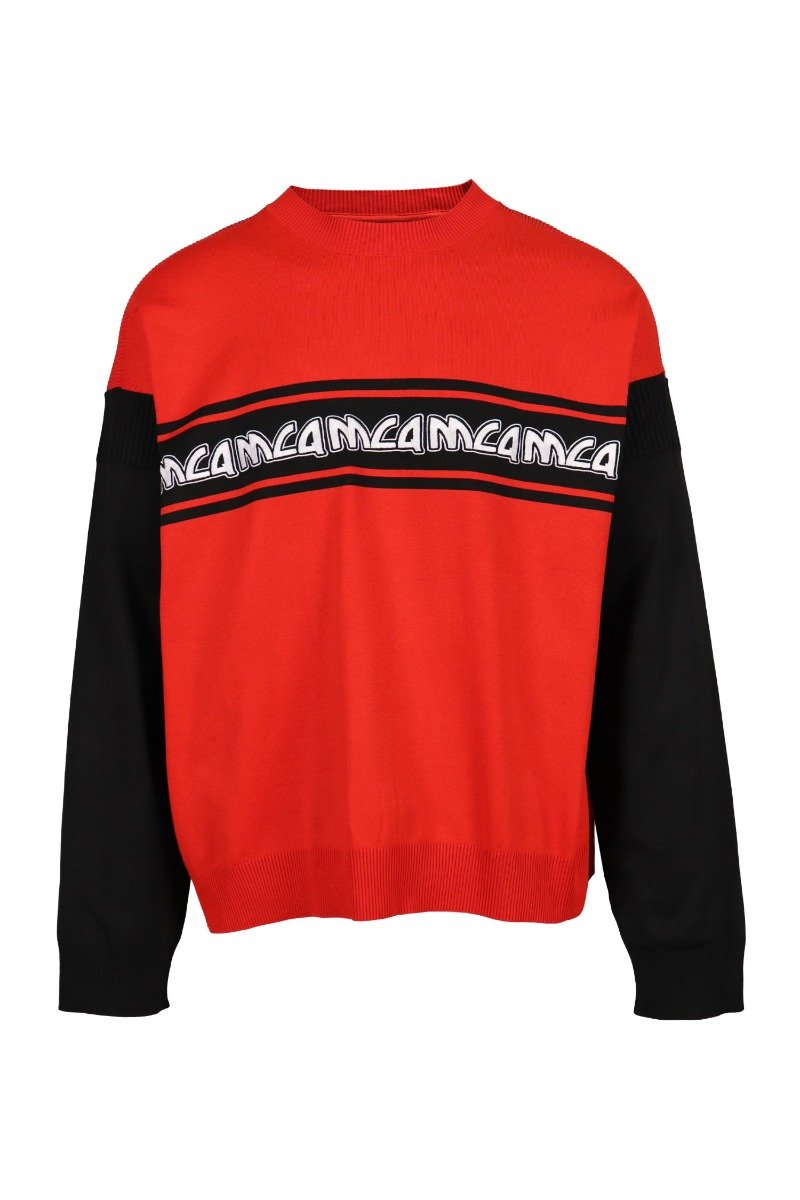 Metal Mcq Logo Sweater Men Fashion Polyamide Long-Sleeve Casual Top Classic
