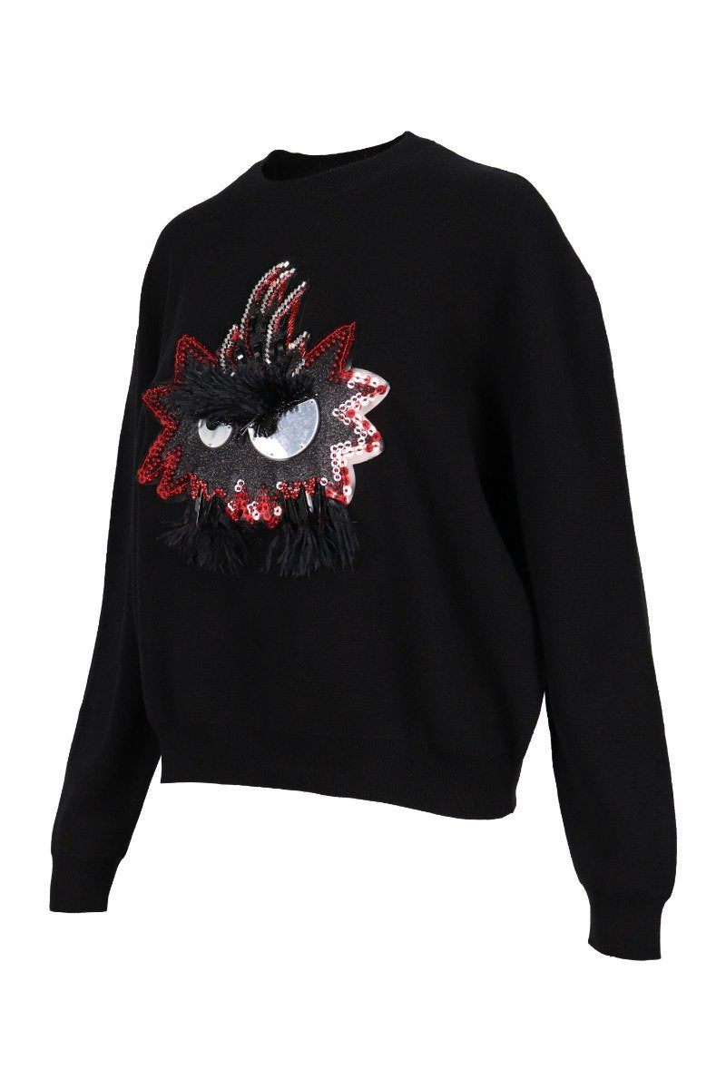 Psycho Billy Monster Sweater Women Fashion MCQ Cotton Long-sleeve Casual Top