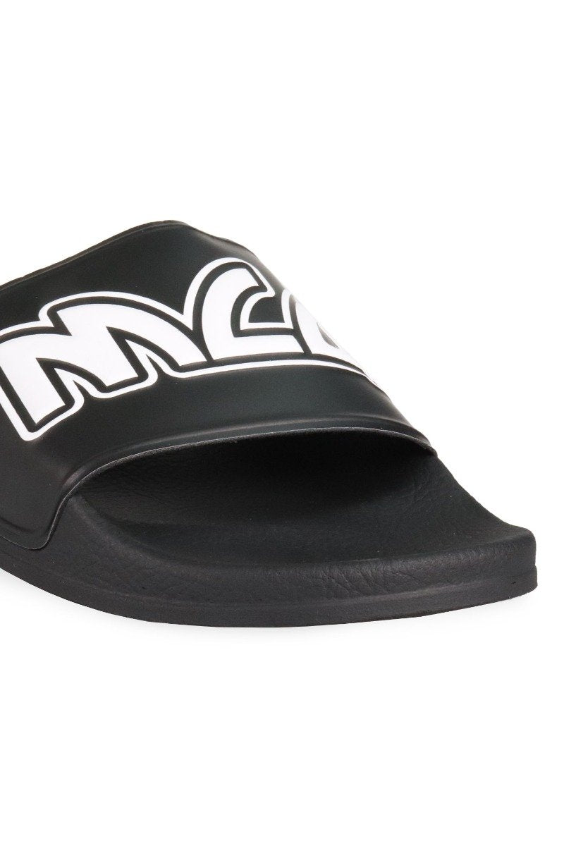 Metal Mcq Logo Slide Men Fashion Polyurethane Slipper Rubber Casual