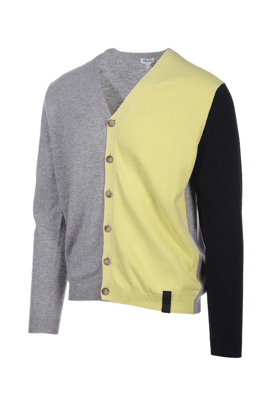 Colorblock Cardigan Paris Kenzo Designer Basic Casual Fashion Menswear