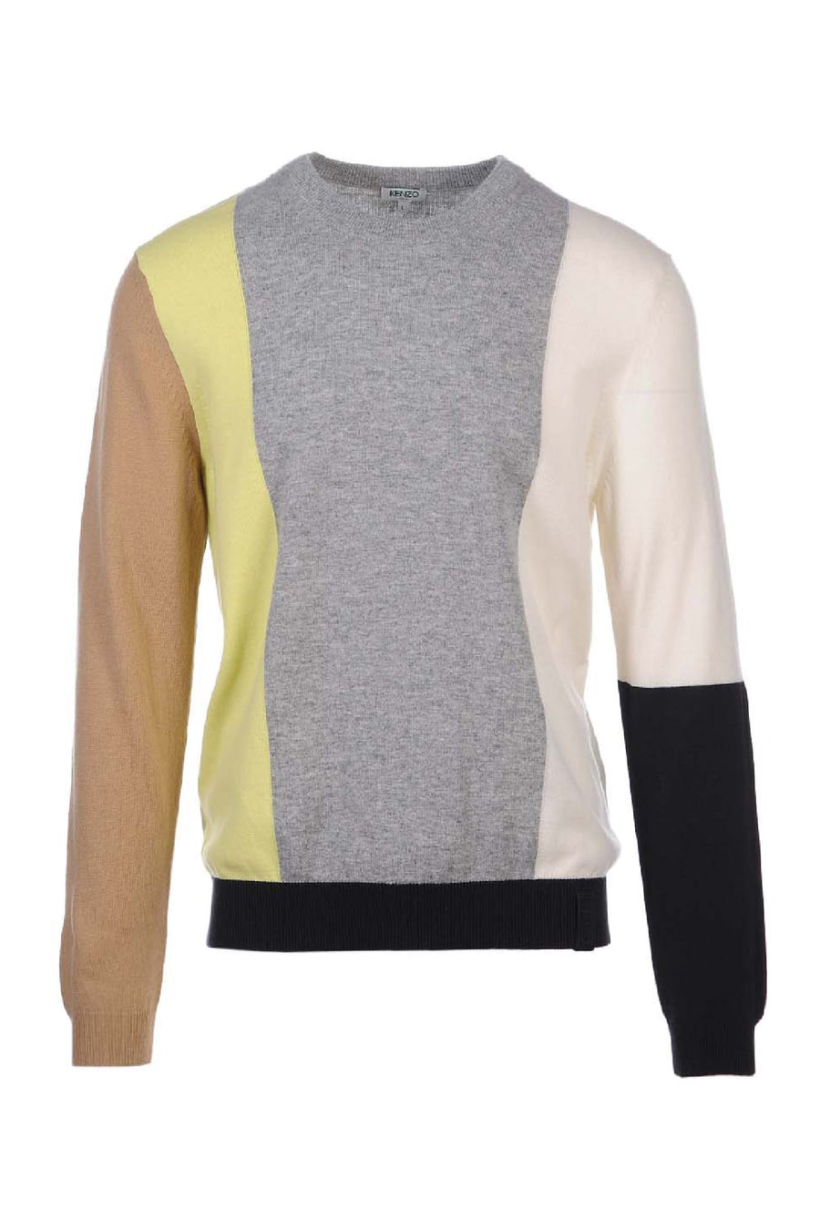 Colourblock Sweater Paris Kenzo Designer Basic Casual Fashion Menswear