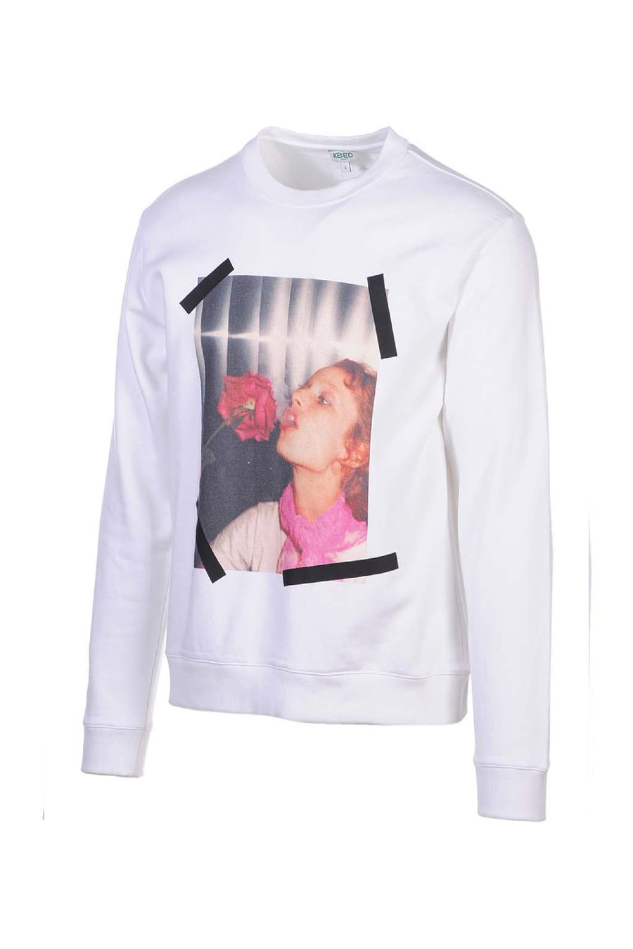 Girl With Rose Sweatshirt Kenzo Paris Designer Long Sleeves Sweater Fashion