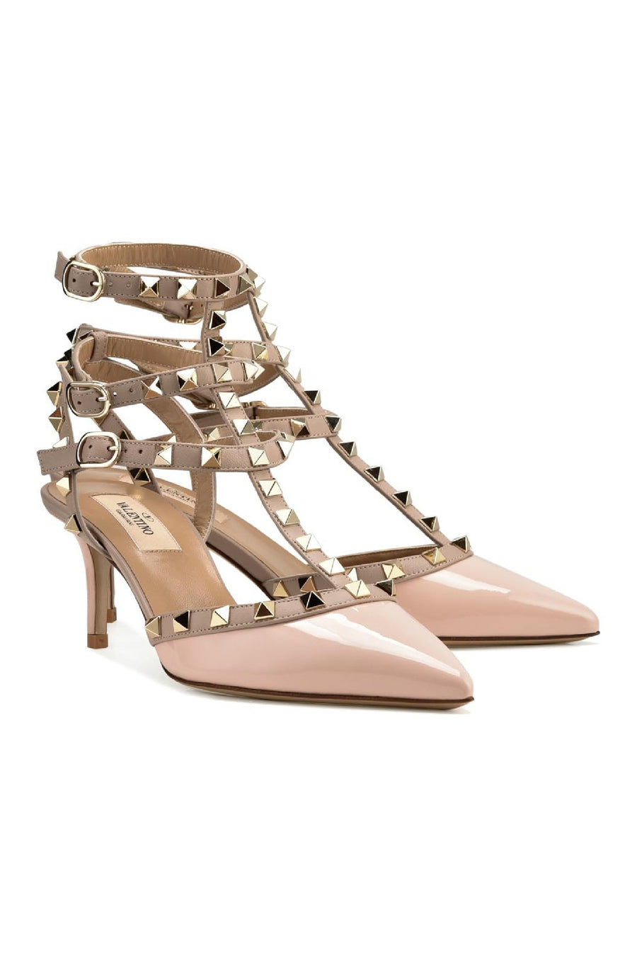 Rockstud Ankle Strap Women Fashion Valentino Calf-Leather High-heel Stunning
