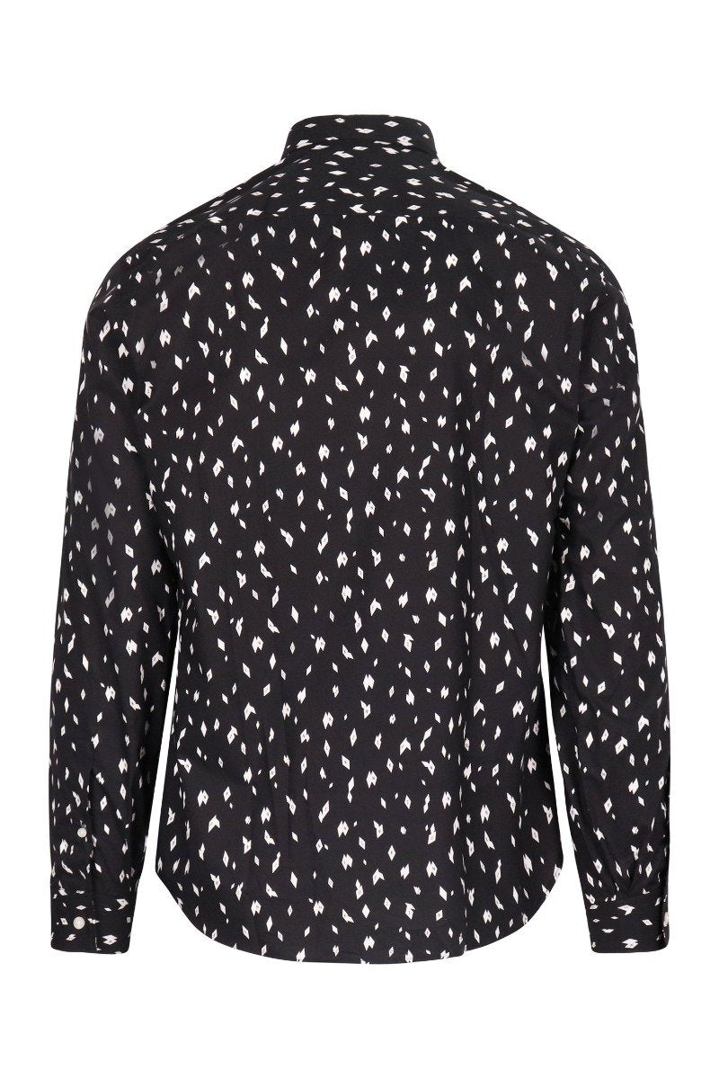 Kenzo Flying Argyle Shirt Cotton Long Sleeve Formal Wear