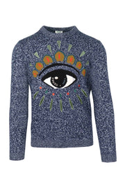 Kenzo Eye Sweater Kenzo Embroidery Long Sleeve Sweater