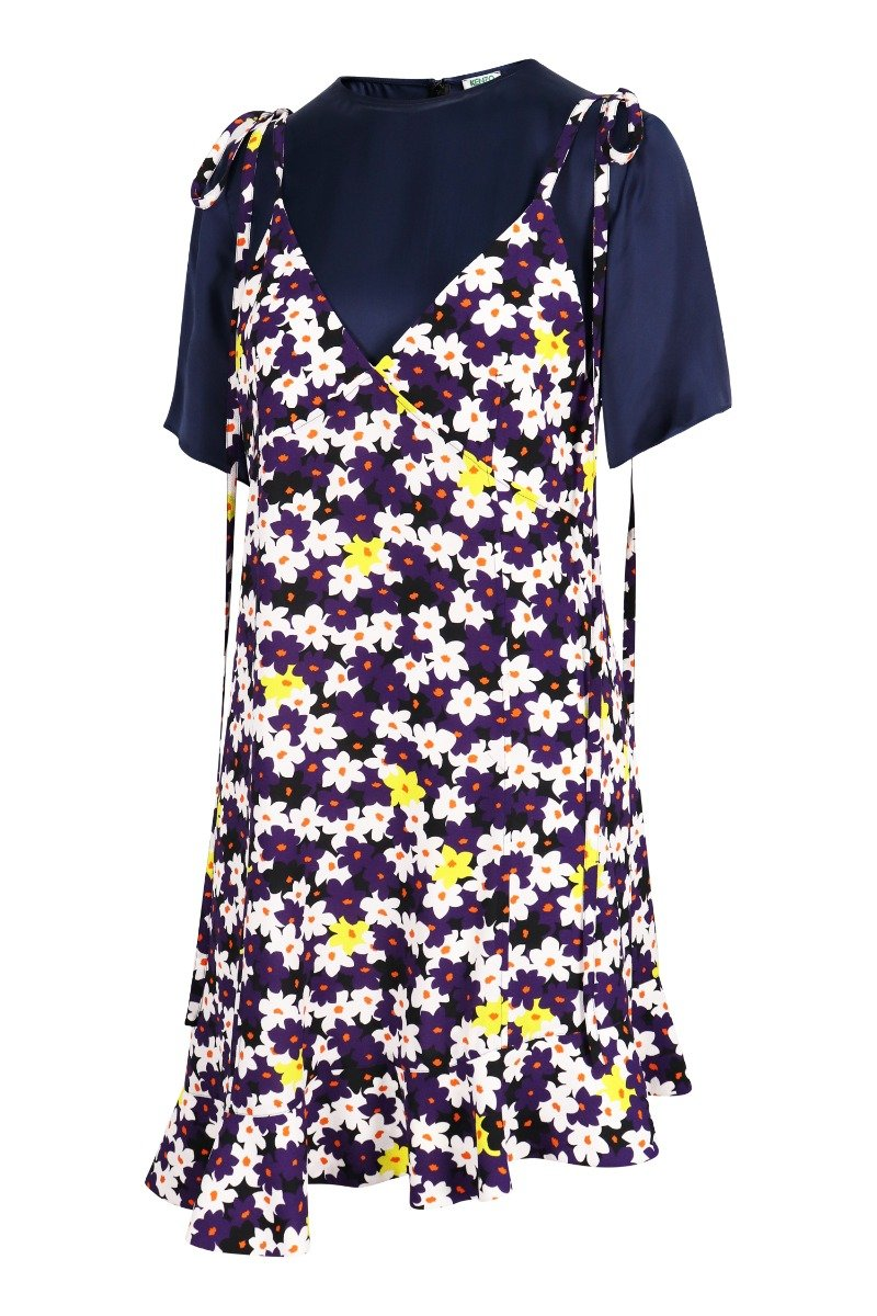 Jackie Floral Crepe Dress Kenzo 2 in 1 Dress Polyester