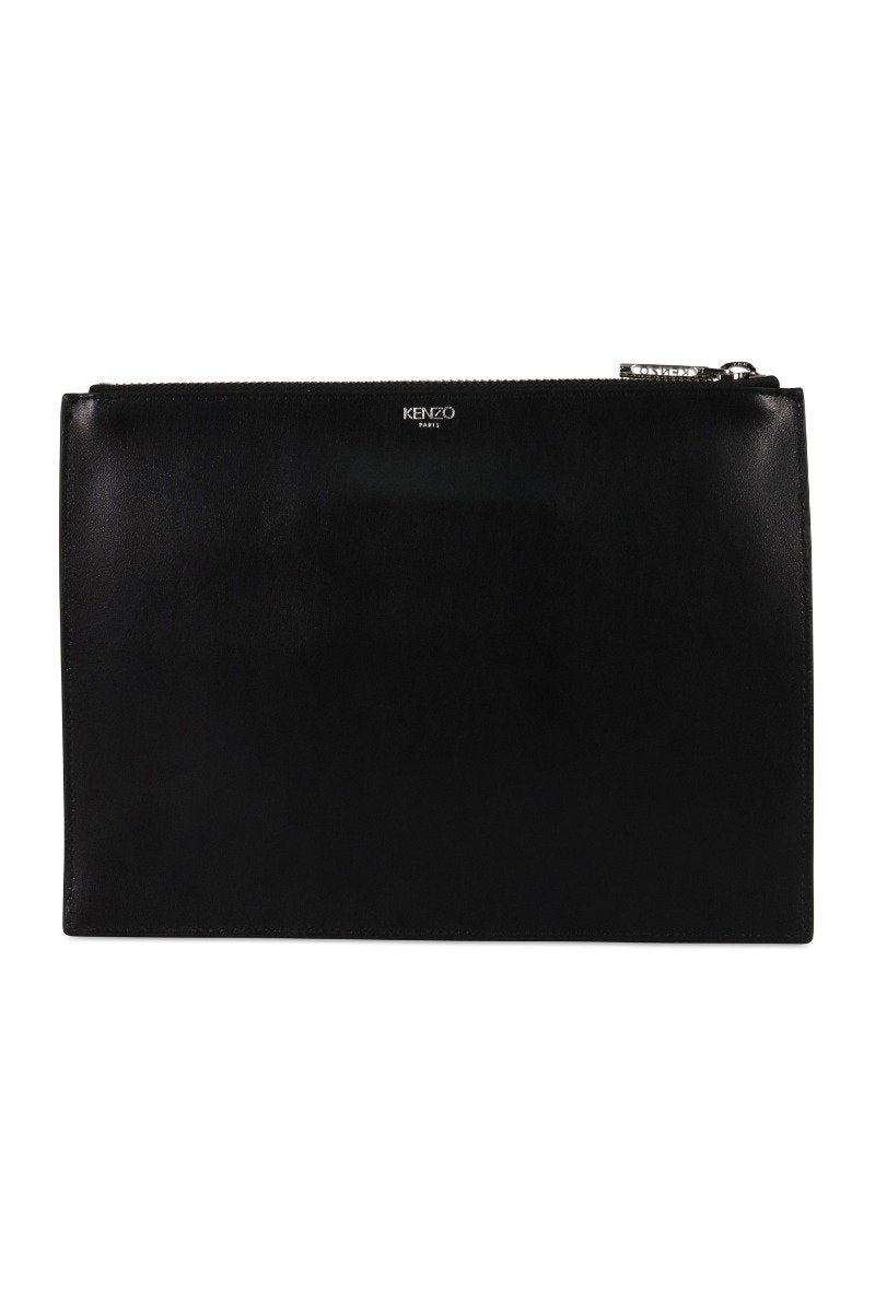 A4 Eye Clutch Kenzo Designer Clutch Dinner Fashion Leather Black Paris Zip Inner card slot