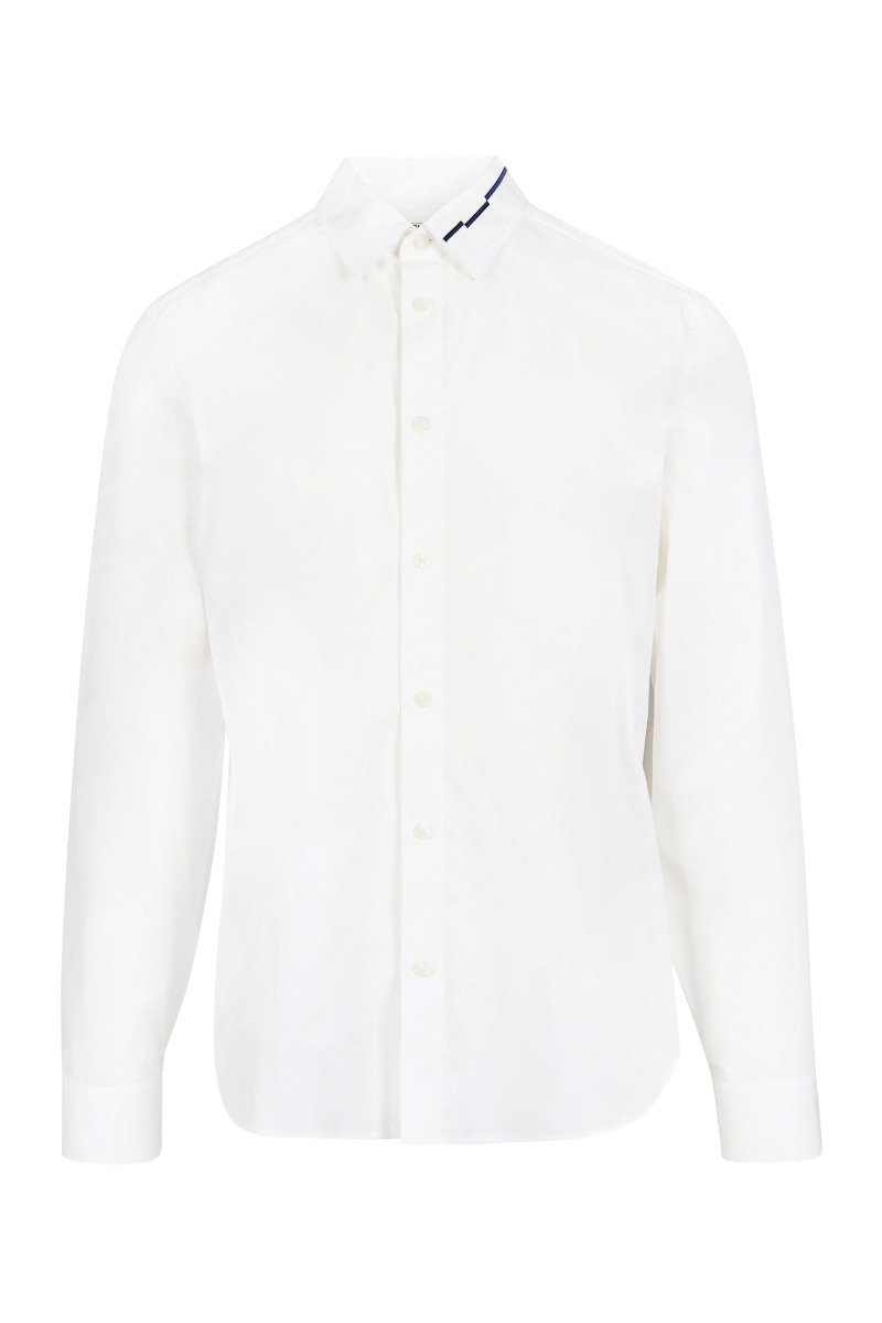 Embroidered Collar Shirt Formal Casual Slim Fit Kenzo Paris Menswear Men Fashion