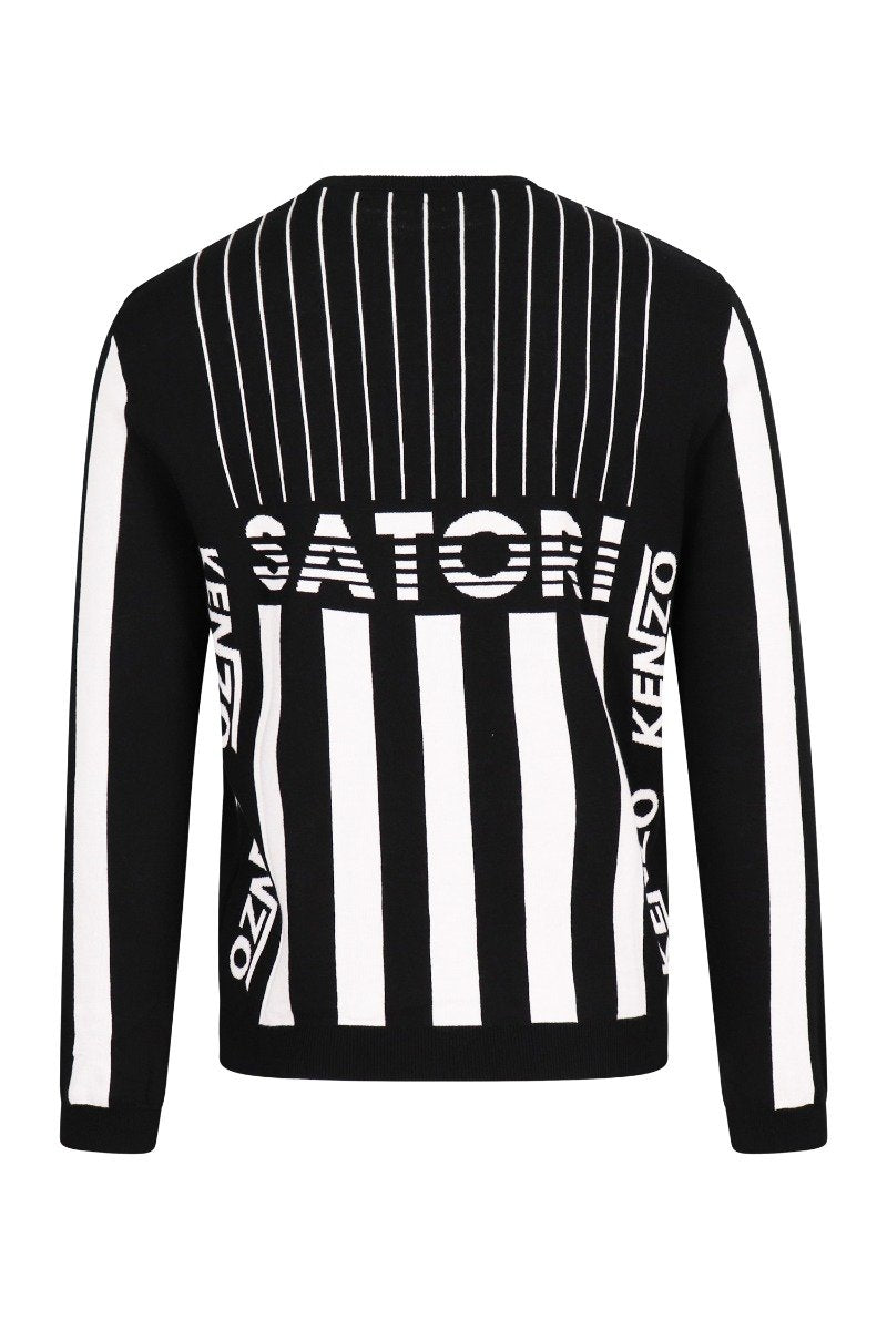 Graphic Psychedelic Sweater Cotton Kenzo Paris Long Sleeves Fashion Designer
