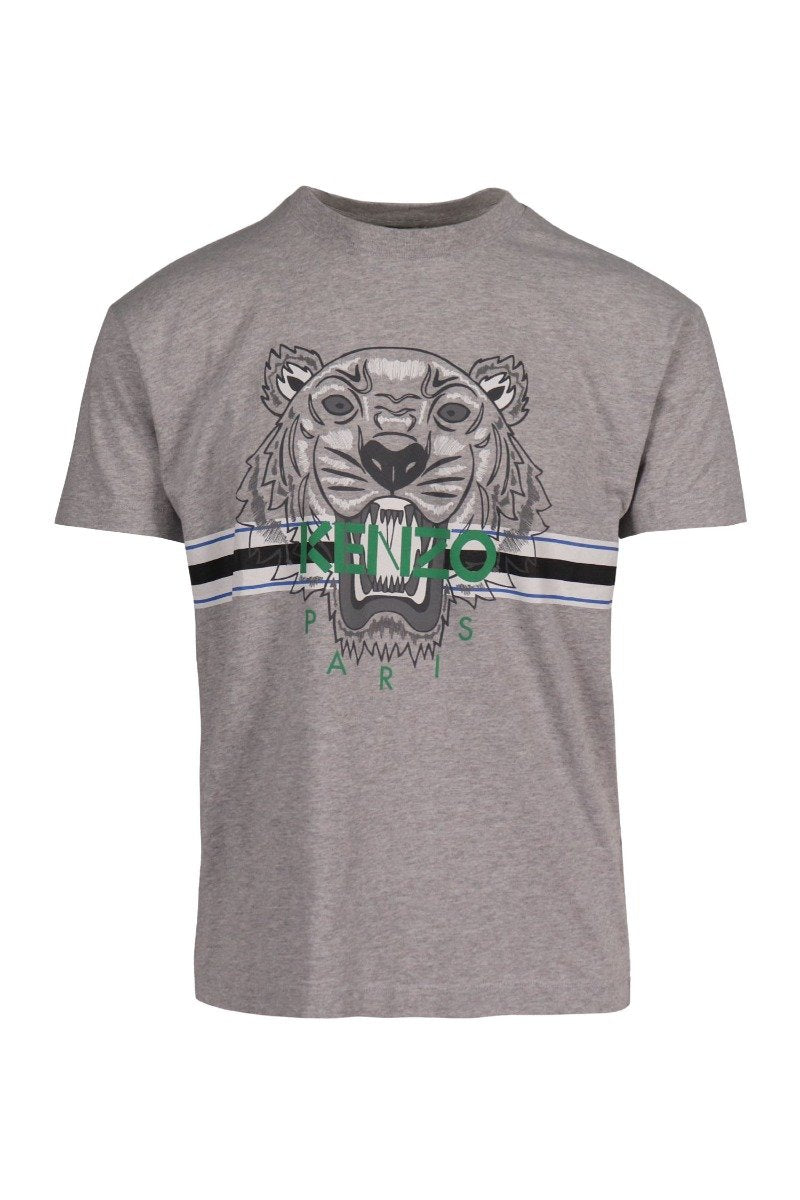 Tiger T-Shirt Kenzo Paris Cotton Short Sleeve Daily Casual Fashion Men