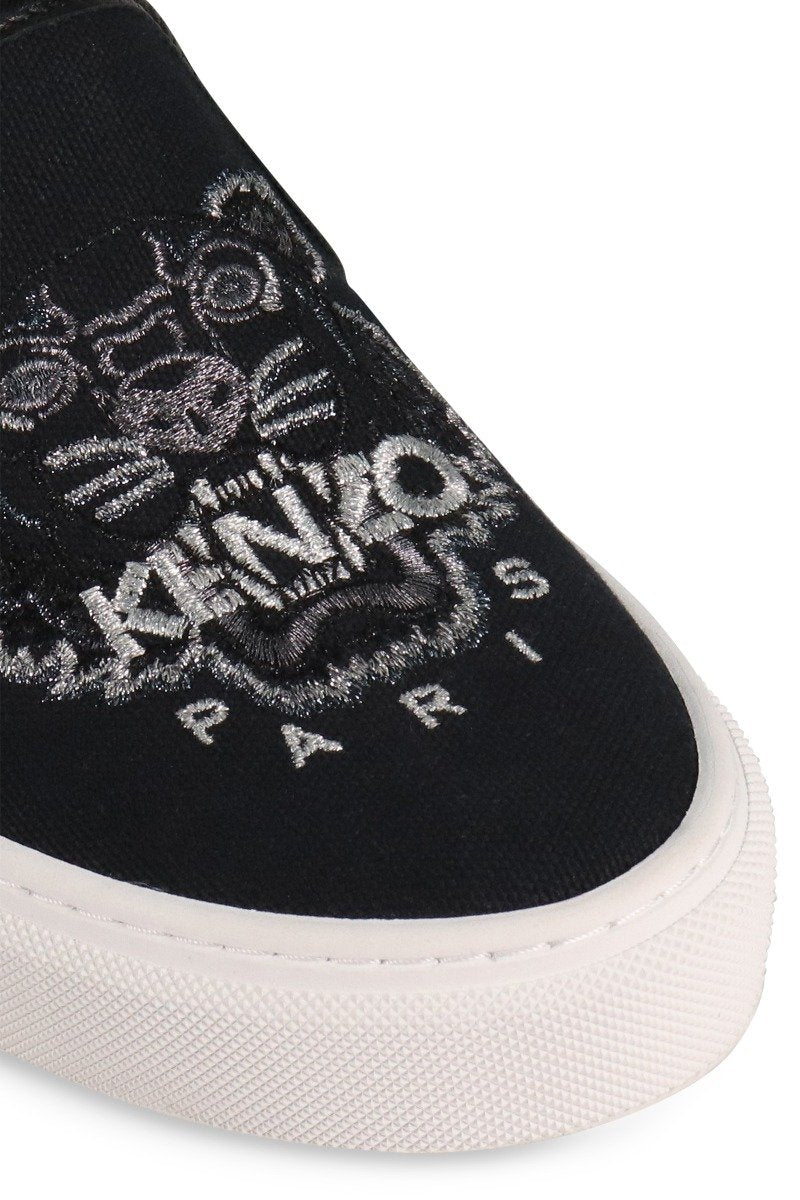 Tiger Slip-On Sneaker Canvas Casual Women Fashion Kenzo Paris