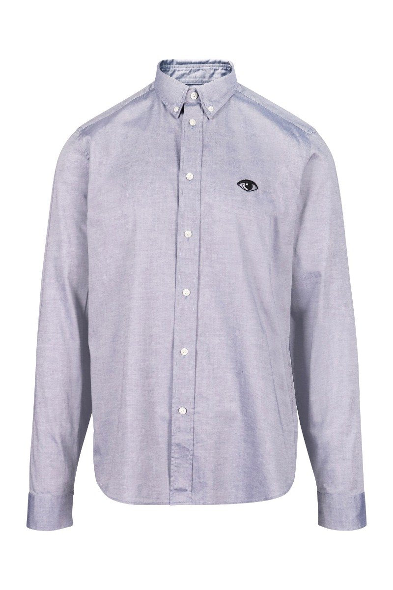 Eye Oxford Shirt Kenzo Paris Smart Casual Formal Embroidery