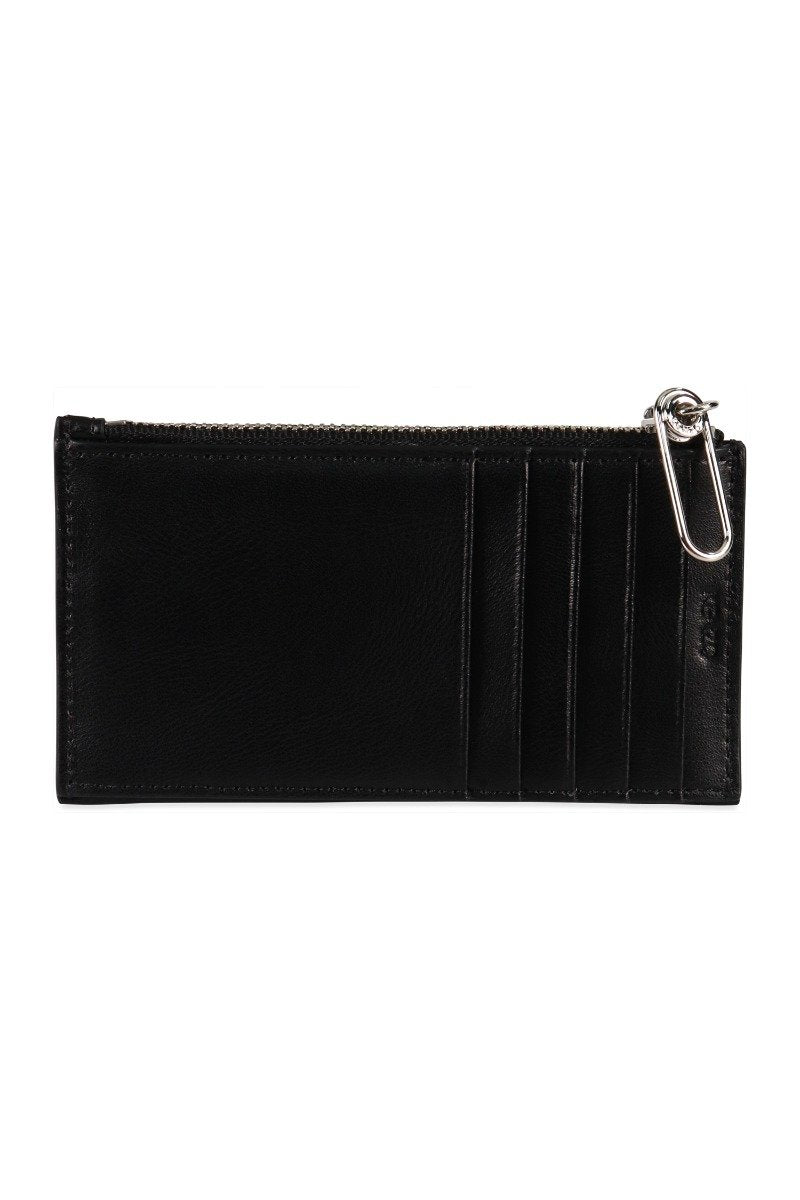 Kenzo Logo Card Holder Cute and Portable Leather Classic Big Wording