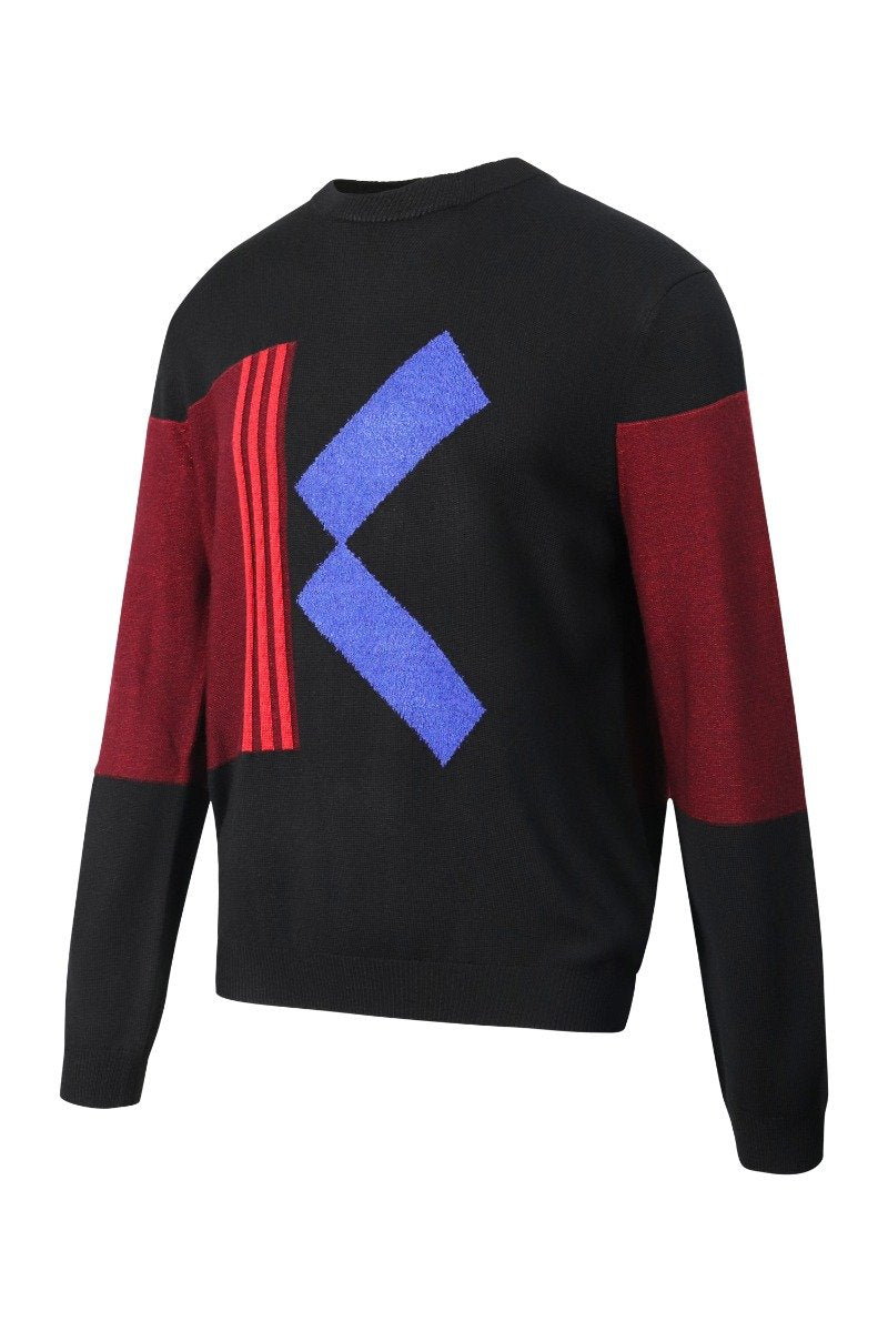 Colourblock K Sweater Paris Kenzo Designer Basic Casual Fashion Unisex Men Women