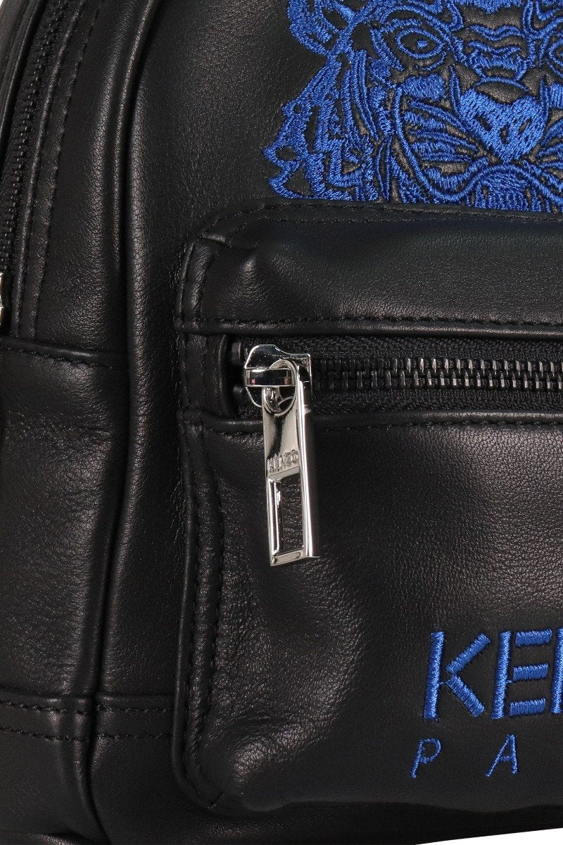 Tiger Mini Backpack Kenzo Paris Calf Leather Fashion Accessories Crossbody Bumbag