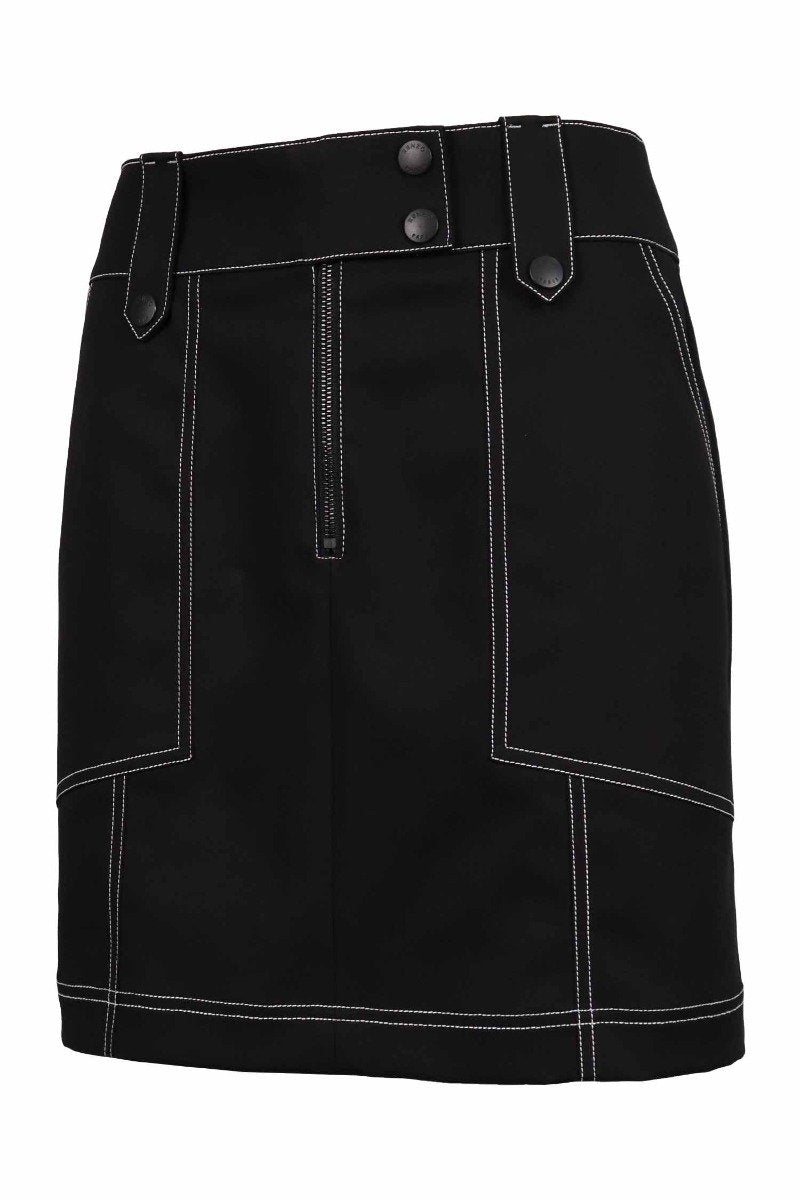 Structured Mini Skirt Women Fashion Kenzo Paris Cotton Design Chic