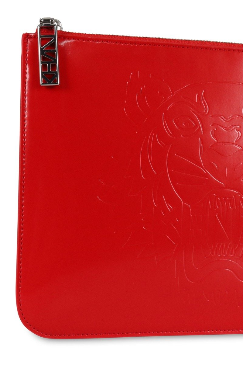A4 Tiger Clutch Red Kenzo Paris Fashion Designer Brand Women