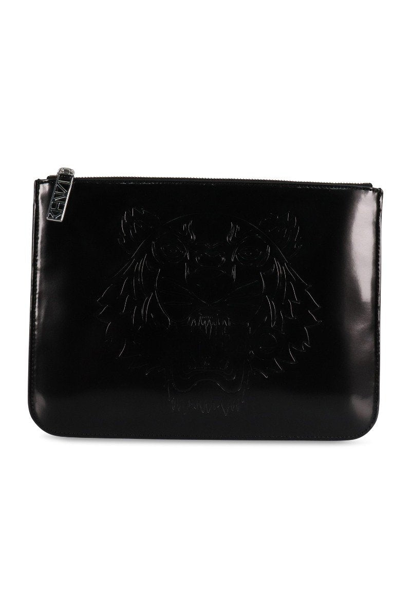 A4 Tiger Clutch Black Kenzo Paris Fashion Designer Brand Women