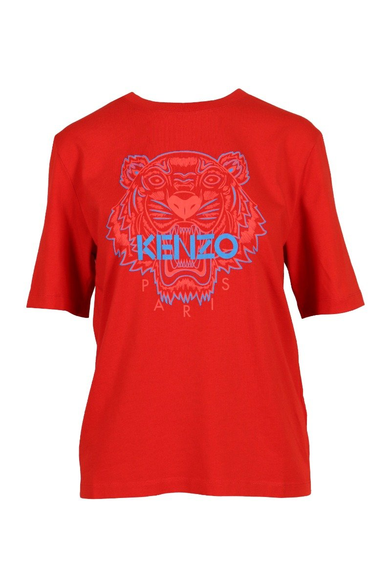 Tiger T-Shirt Kenzo Paris Cotton Short Sleeve Daily Casual Fashion