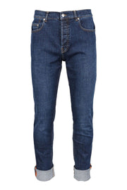 Slim Fit Jeans Men Fashion Kenzo Paris Denim Cotton Pants Casual