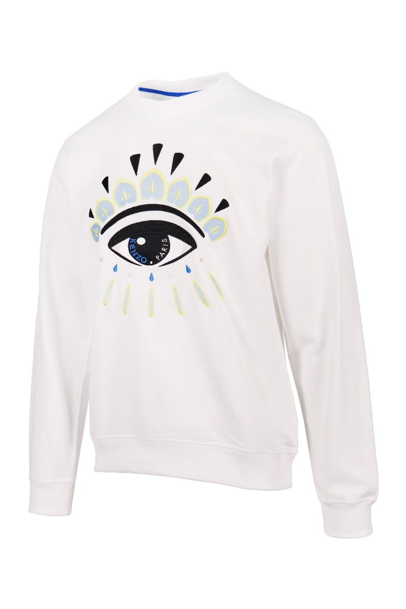 Eye Sweatshirt Cotton Long Sleeves Kenzo Paris Fashion Sweater Basic Casual