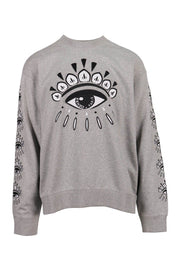Multi Eye Sweatshirt Men Fashion Kenzo Paris Cotton Long-Sleeve Comfort Casual