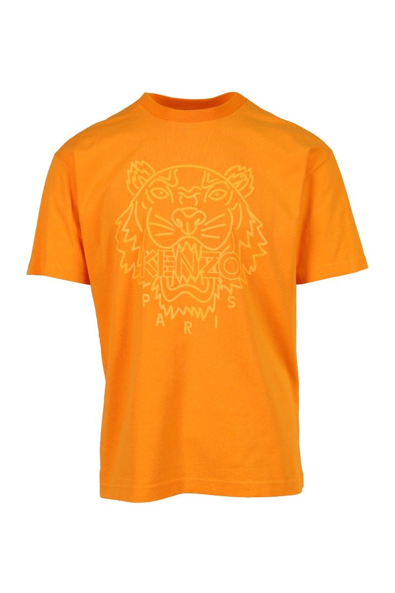 Neon Tiger T-Shirt Men Fashion Kenzo Paris Cotton Short Sleeve Casual Tee