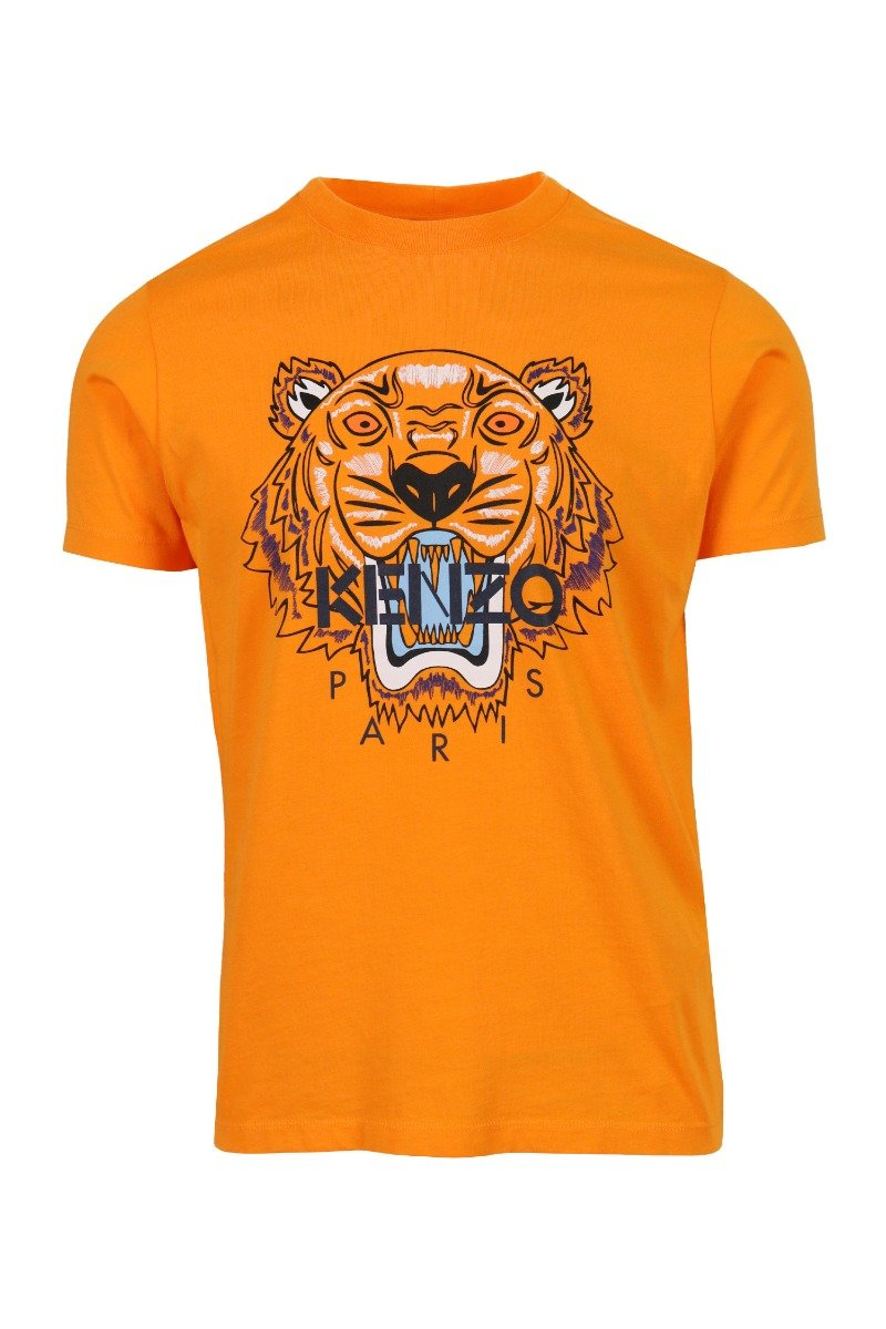 Tiger T-Shirt Kenzo Paris Cotton Short Sleeve Straight Cut Daily Casual Fashion