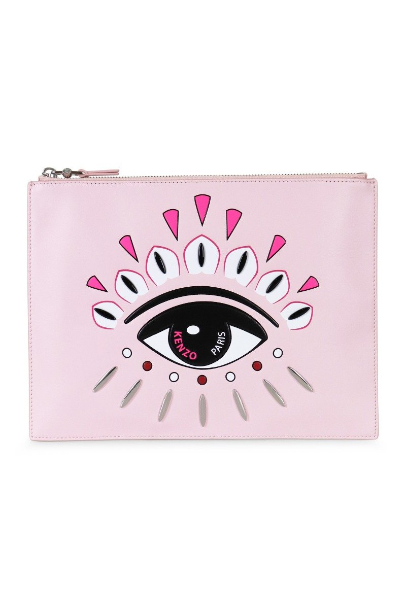 A4 Eye Clutch Paris Kenzo Designer Party Dinner Pink Card Slot