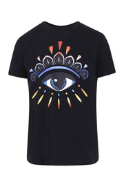 Gradient Eye T-Shirt Kenzo Paris Cotton Fashion Designer Basic Casual Top