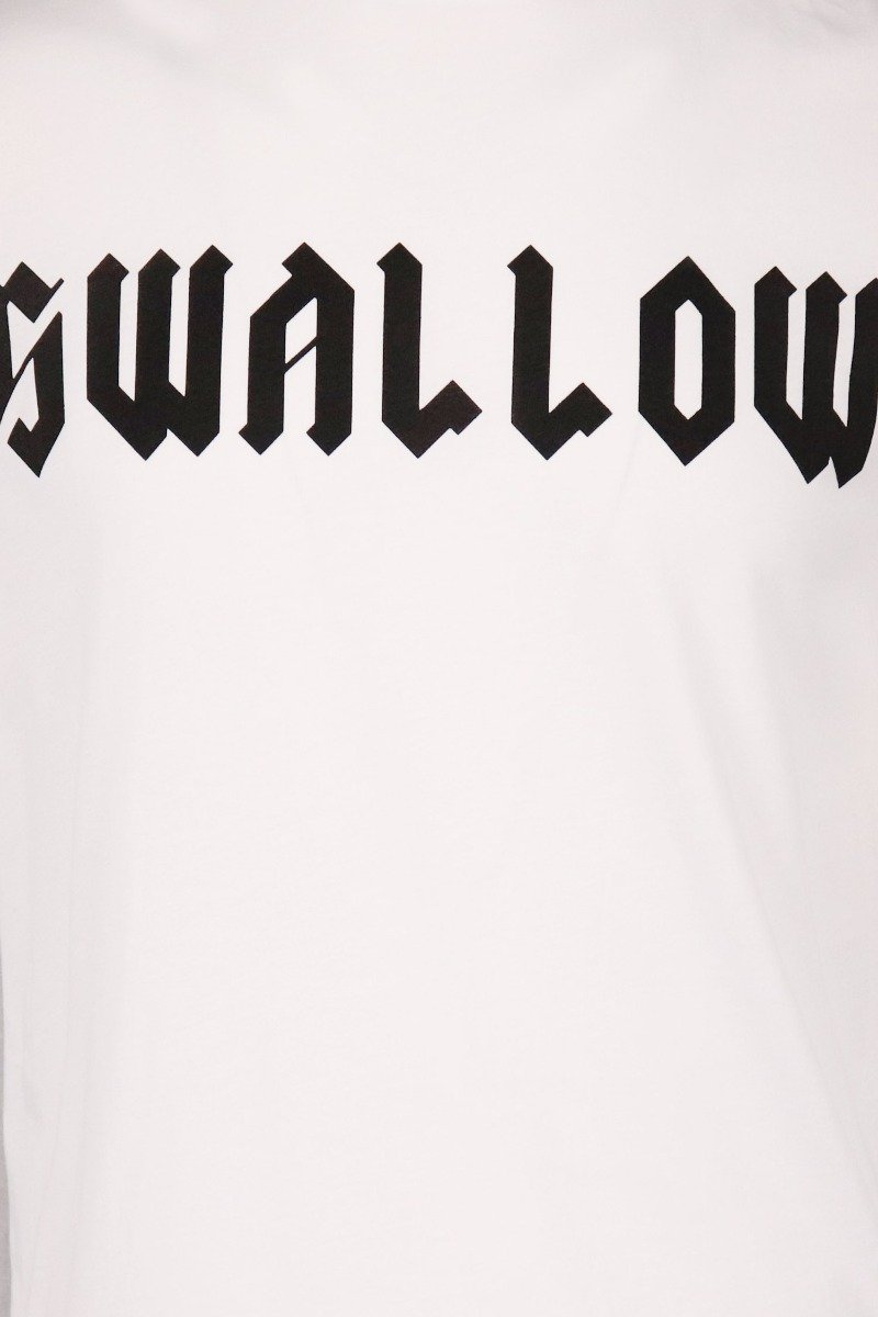 Swallow Print T-Shirt Men Fashion MCQ Cotton Short Sleeve Casual Top