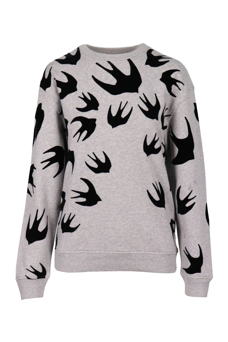 Swallow Signature Sweatshirt Women Fashion MCQ Cotton Blend Long Sleeve Casual Top