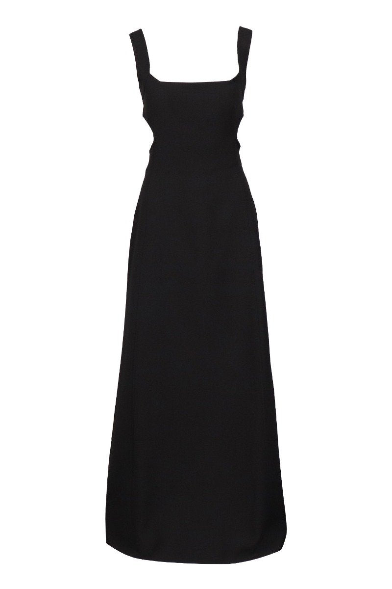 Cut-Out Gown Elegant Women Dinner Dress Maxi Dress Evening Party Black Classic